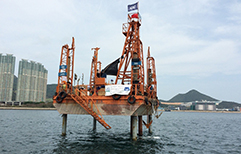Jack-up platform for marine drilling